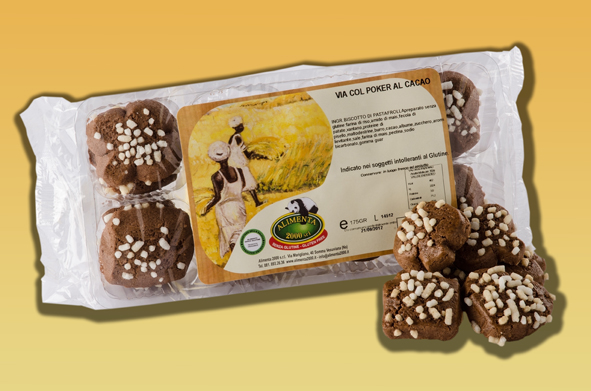 Image of Alimenta 2000 Via Col Poker Al Cacao Senza Glutine 175g 921901690