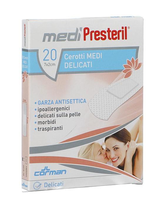 Corman Medipresteril Cerotti Delicati 7x2cm 20 Pezzi