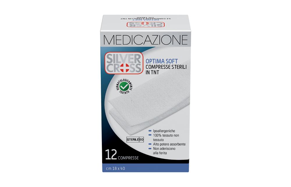 Silver Cross Optima Soft Garza Tnt Sterile 18x40cm 12 Pezzi