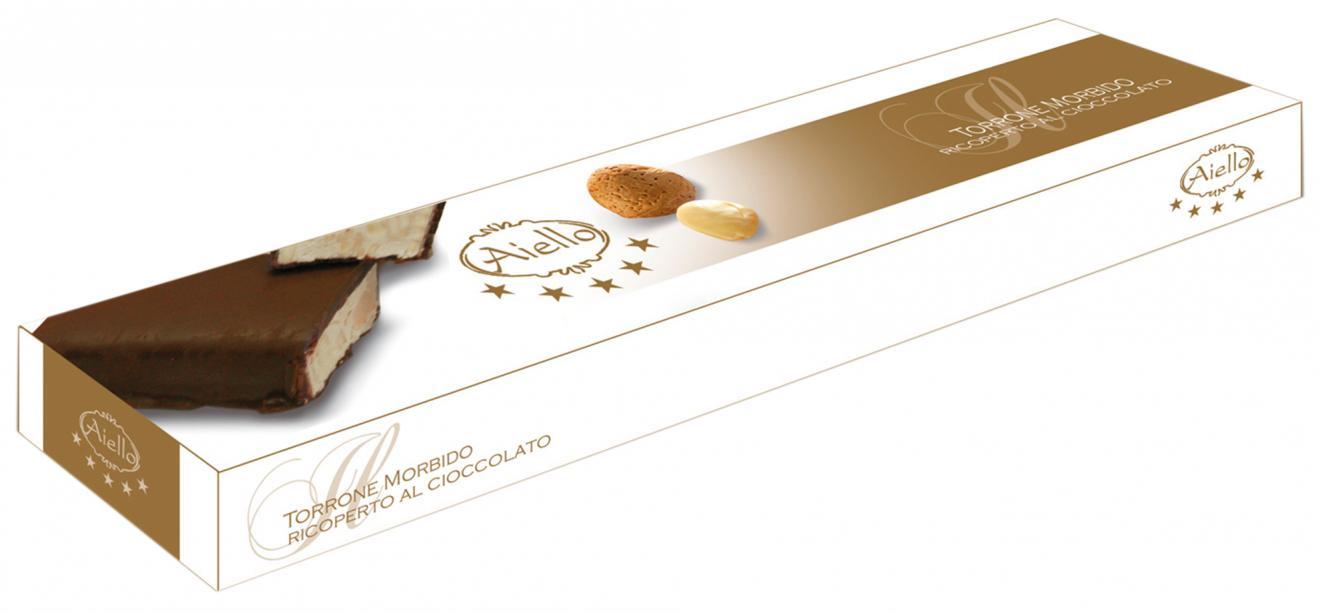 Image of Aiello Torrone Morbido Con Mandorle E Cioccolato Fondente Biologico 150g 922266390