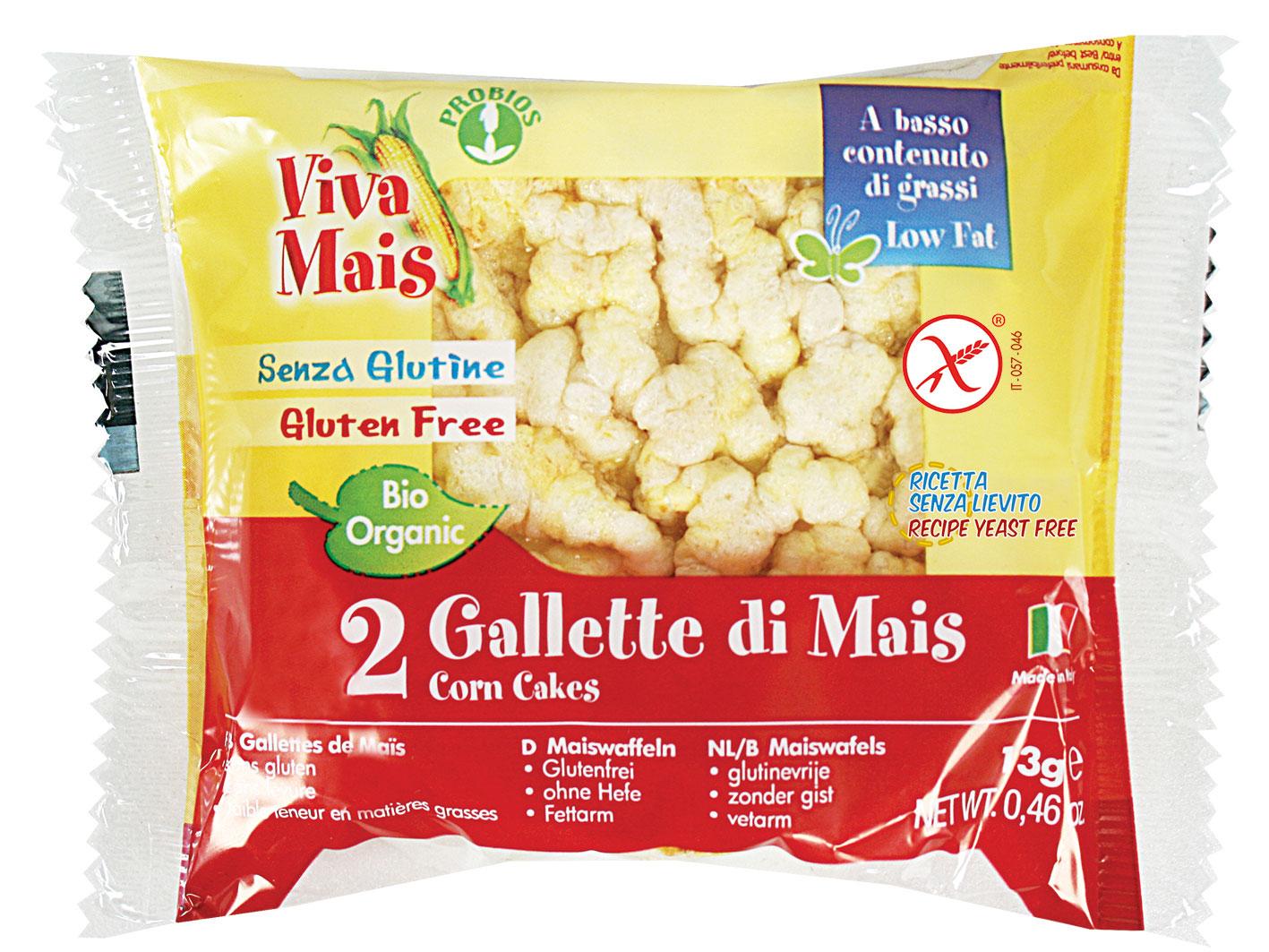 Viva Mais Gallette Mais Con Sale Confezione Duopack Biologiche 13g
