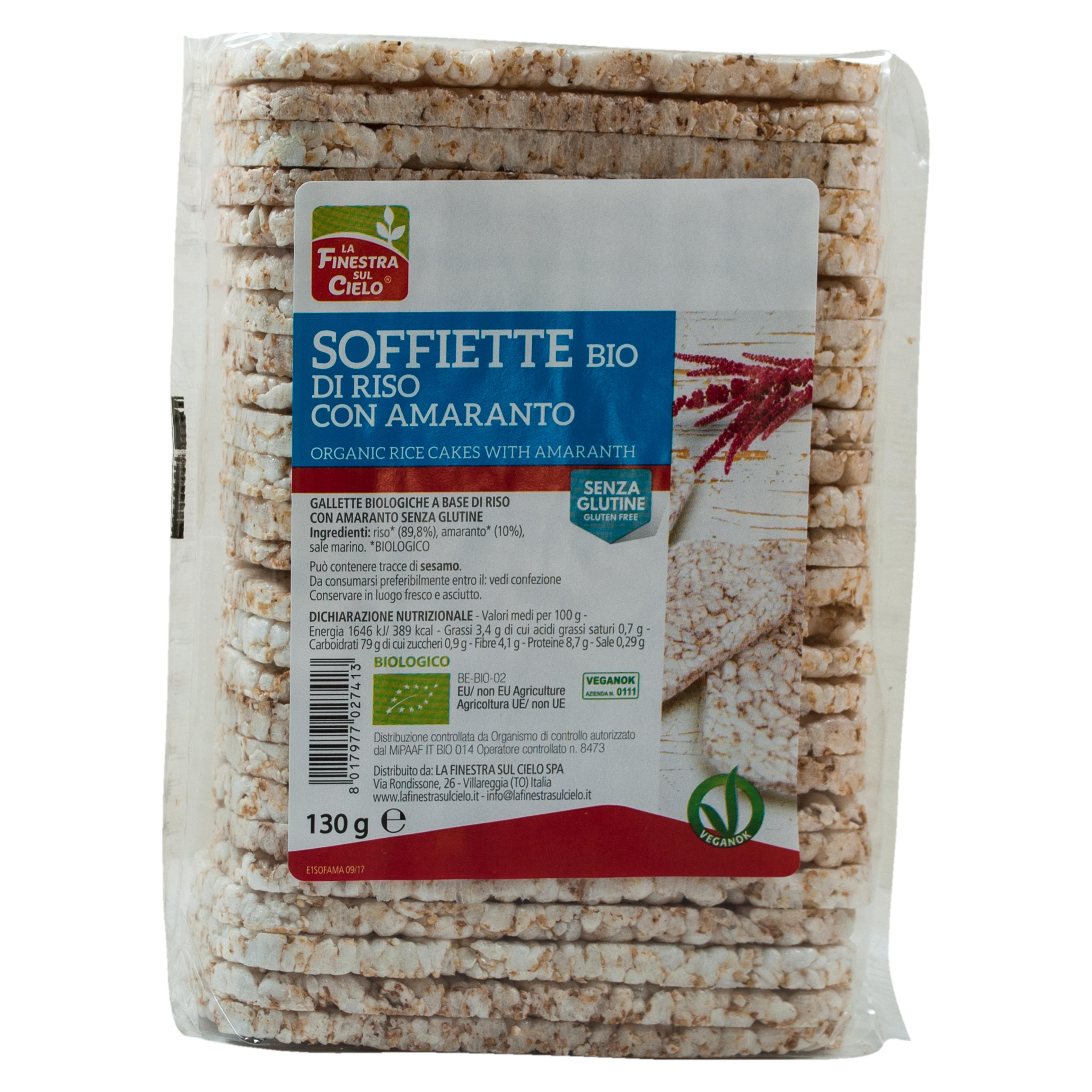 Soffiette Riso Con Amaranto Bio 130g