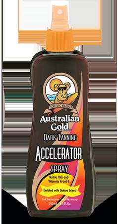 Image of Australian Gold Accelerator Dark Tanning Lotion Spray 250ml 922928155