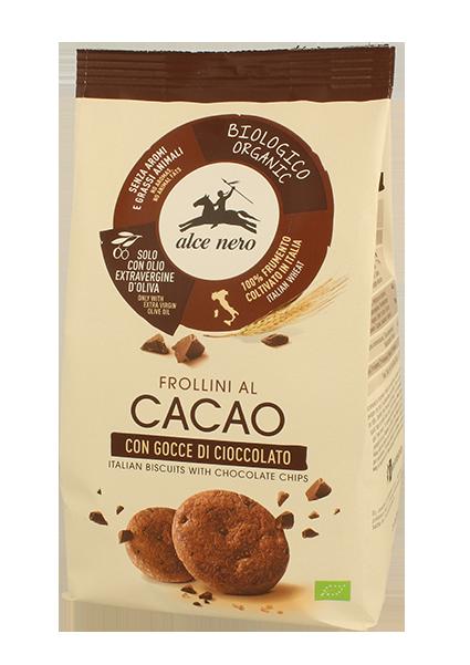 Image of Alce Nero Frollini Cacao Con Gocce Di Cioccolato Biologico Senza Glutine 300g 923391940
