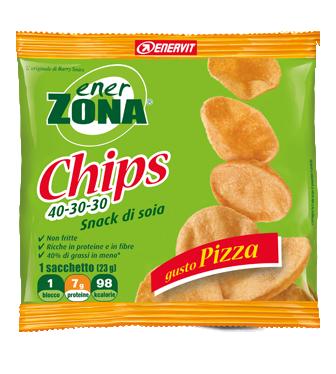 EnerZona Chips 40 30 30 Snack Di Soia Gusto Pizza 23g
