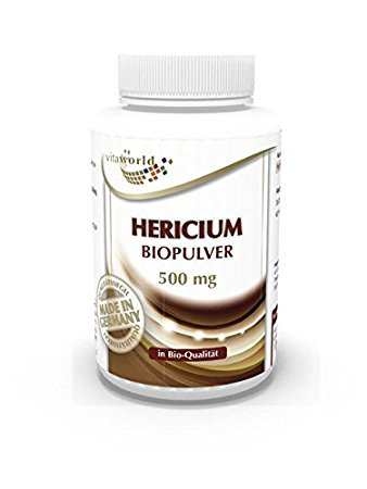 Hericium Polvere Biologico Integratore Alimentare 120 Capsule