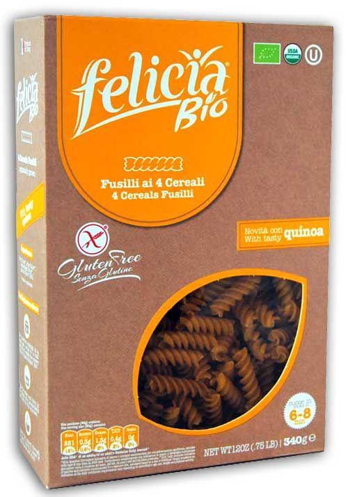 Felicia Bio Pasta Multicereali Fusilli Senza Glutine 340g
