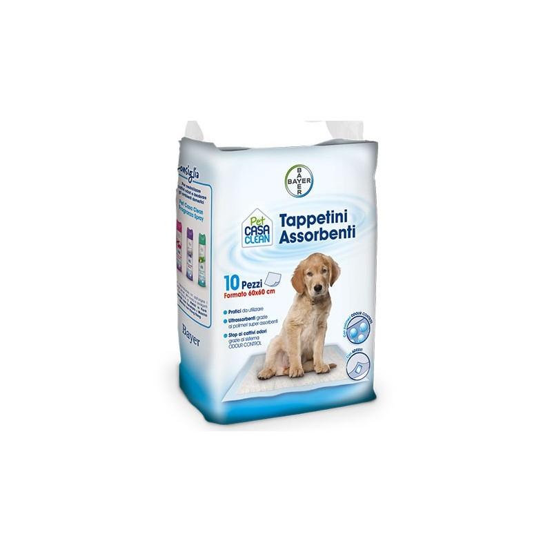 Image of Bayer Pet Casa Clean Tappeti Assorbenti 60x60cm 10 Pezzi 923543298