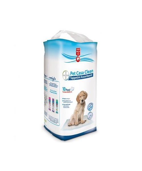 Image of Bayer Pet Casa Clean Tappetini Assrbenti 60x90cm 10 Pezzi 923543300