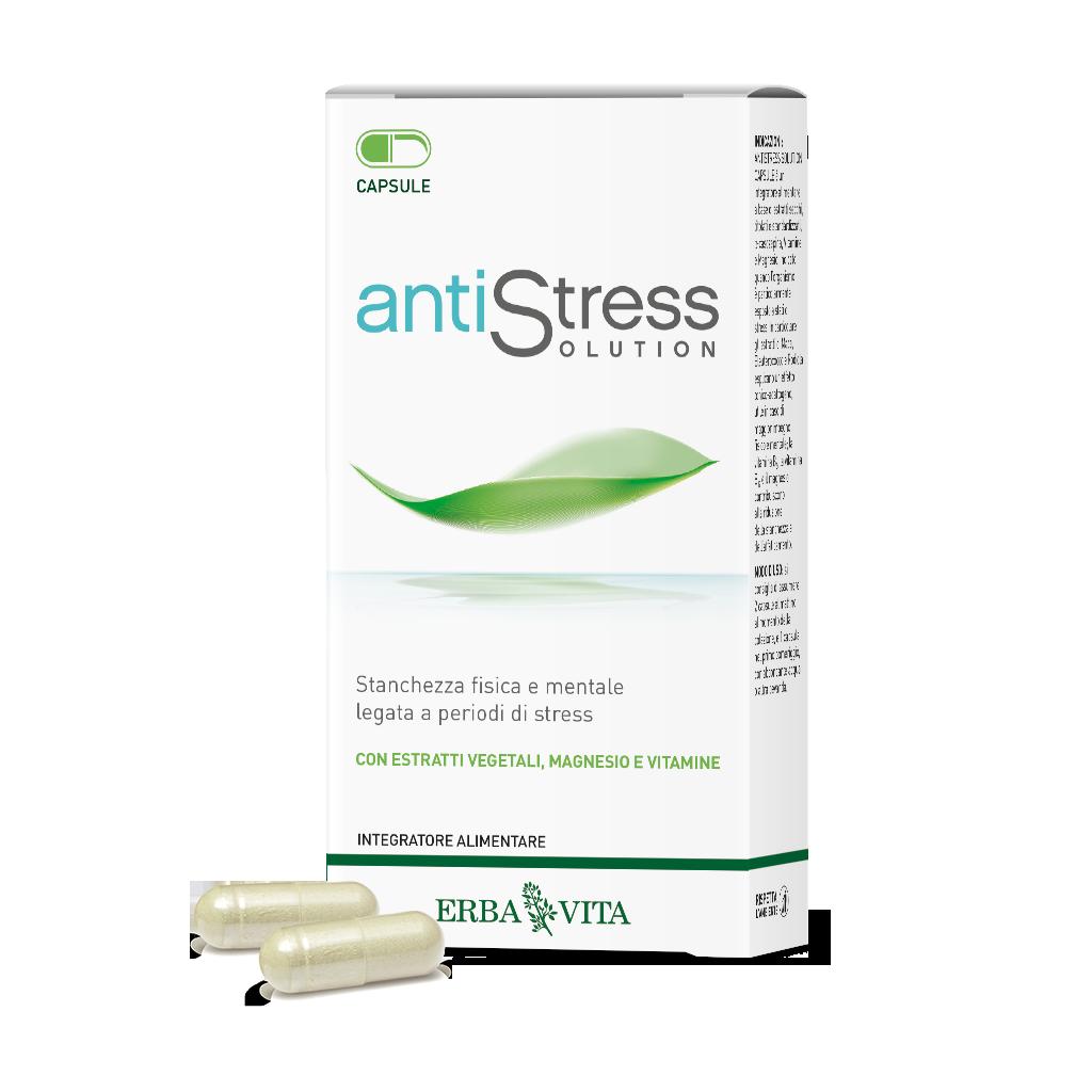 ErbaVita Antistress Solution Capsule Integratore Alimentare 45 Capsule