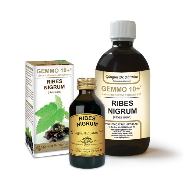 Dr. Giorgini Gemmo 10+ Ribes Nero Liquido Analcolico 100ml