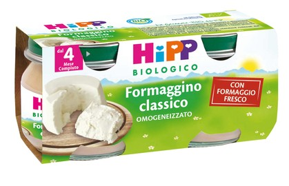 HiPP Biologico Omogeneizzato Formaggino Classico 2x80g