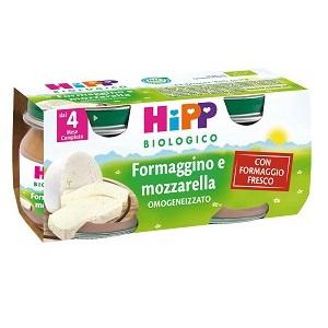 HiPP Biologico Omogeneizzato Formaggino E Mozzarella 2x80g