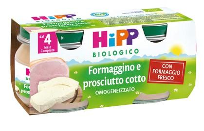 HiPP Biologico Omogeneizzato Formaggino Prosciutto Cotto 2x80g