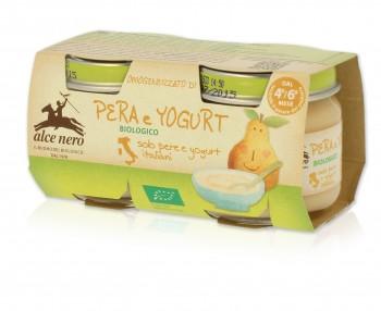 Image of Alce Nero Omogeneizzato Pera E Yogurt Biologico 2x80g 924751819