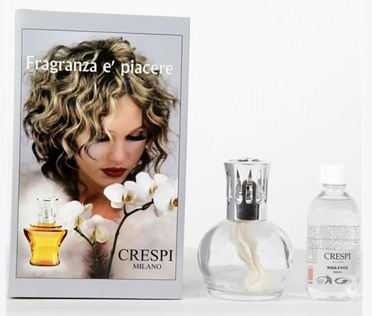 Image of Carma Italia Lampada Catalitica L6 Trasparente Da 200ml + Ricarica Alla Rosa E Fico 150ml 924754221