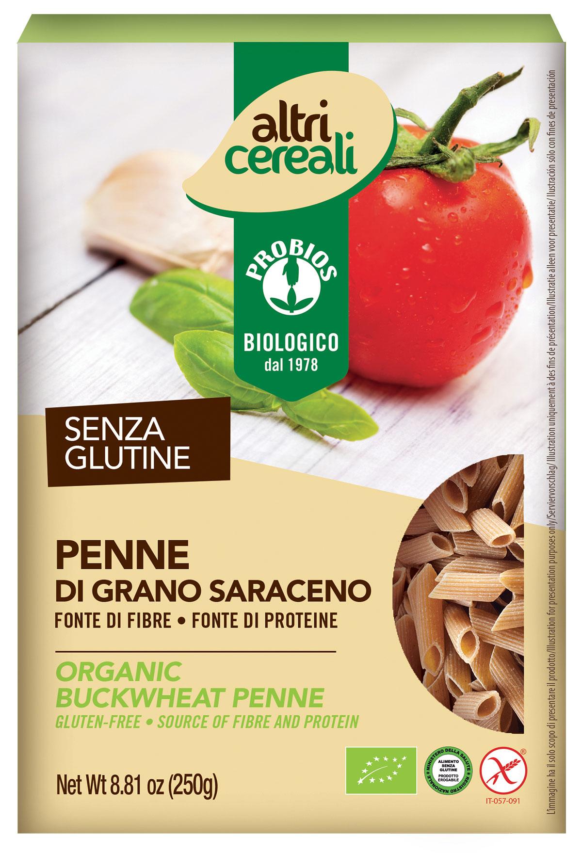 Image of AltriCereali Specialità Grano Saraceno Pasta Penne Biologico Senza Glutine 250g 925042246