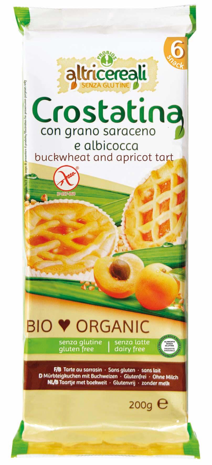 Altri Cereali Crostatina Con Grano Saraceno E Albicocca Senza Glutine 200g