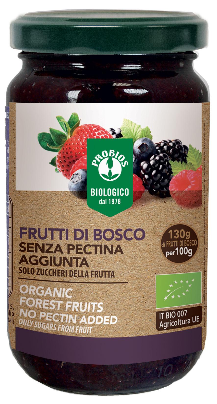 Probios Composta Di Frutti Di Bosco Senza Pectina Biologica 220g