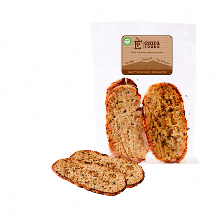 Image of Emra Food Bruschetta Con Origano Senza Glutine 4x130g 925326528