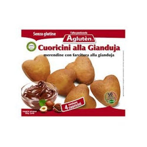 Image of Agluten Cuoricini Alla Gianduja Senza Glutine 150g 925882490