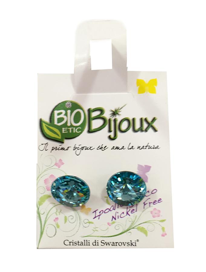 Image of Bioetic Bijoux Orecchino Rivolo Light Turquoise 10mm 925957627