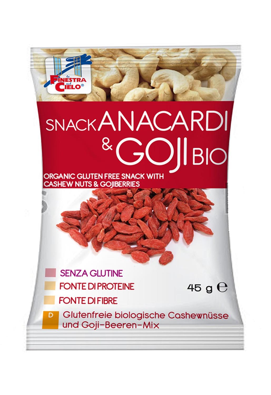 Snack Anacardi & Goji Bio Senza Glutine 45g