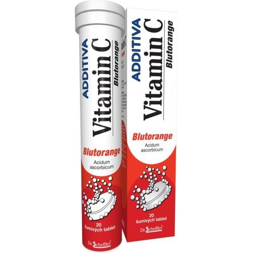 Image of Additiva Vitamina C Arancia Rossa Integratore Alimentare 20 Compresse 926085059