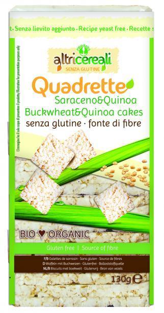 Image of Altri Cereali Quadrette Al Grano Saraceno E Quinoa Biologico 130g 926522677