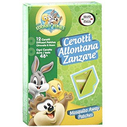 Image of Brand Italia Cerotti Allontana Zanzare Baby Looney Tunes 12 Pezzi 926549130
