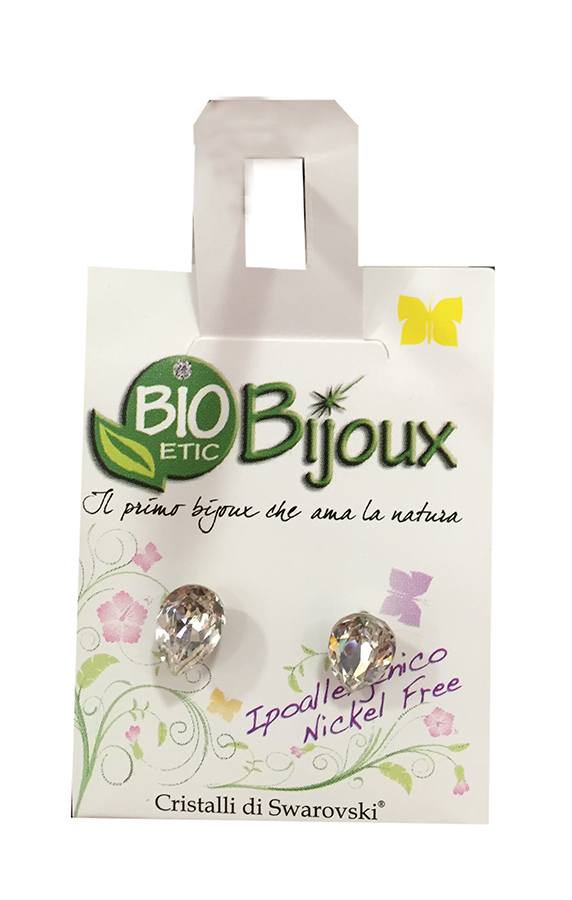 Image of Bioetic Bijoux Orecchino Goccia 8 mm Crystal 926570324