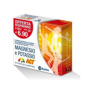 Magnesio Potassio ACT Integratore Alimentare 14 Bustine