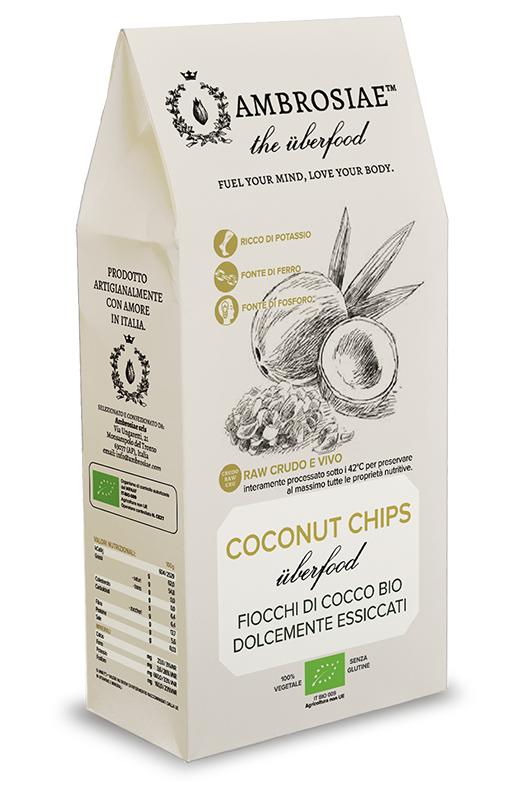 Image of Ambrosiae The Uberfood Coconut Chips Fiocchi Di Cocco Bio 100g 926594084
