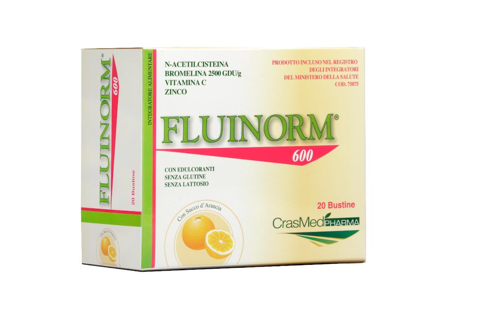 Image of Crasmed Pharma Fluinorm 600 Integratore Alimentare 20 Bustine 926619305