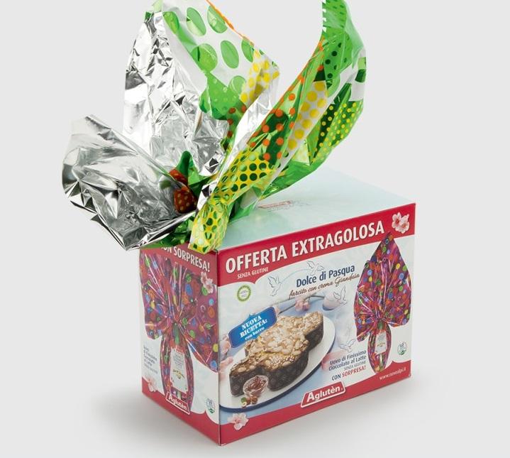 Image of Agluten Dolce Di Pasqua con Crema Gianduia Senza Glutine 500g 926648700