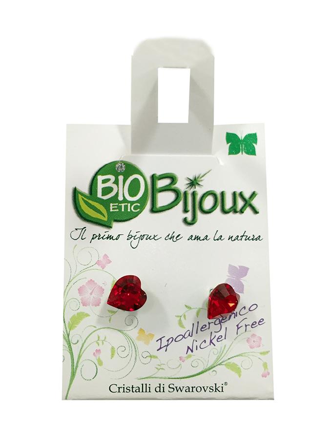 Image of Bioetic Bijoux Orecchino Cuore 6 mm Light Siam 926649308