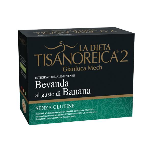 GIanluca Mech La Dieta Tisanoreica 2 Bevanda Gusto Banana Senza Glutine 4x28g