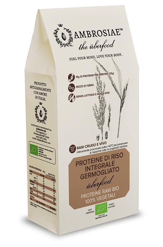 Image of Ambrosiae The Uberfood Proteine Di Riso Integrale Germogliato Proteine 100% Vegetali 200g 926877008