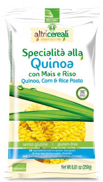 Image of Altri Cereali Specialità Alla Quinoa Con Mais E Riso Pasta Fusilli Biologico Senza Glutine 250g 926888607