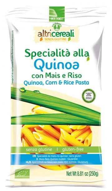 Image of Altri Cereali Specialità Alla Quinoa Con Mais Riso Pasta Penne Biologico Senza Glutine 250g 926888619