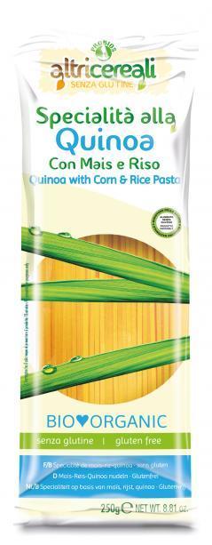 Image of Altri Cereali Specialità Alla Quinoa Con Mais E Riso Pasta Spaghetti Bio Senza Glutine 250g 926888633