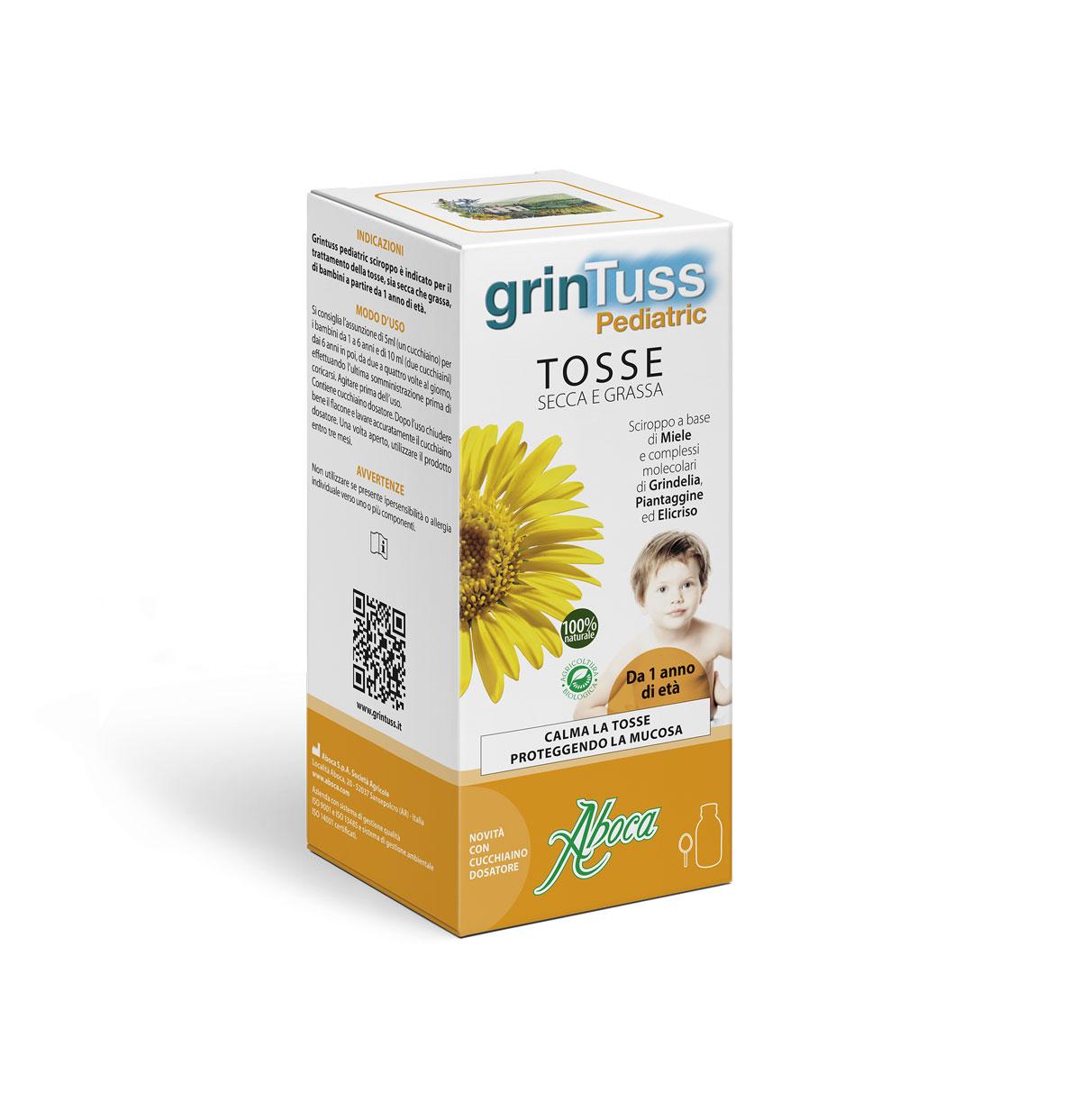 Image of Aboca GrinTuss Pediatric Sciroppo 180g 927091203