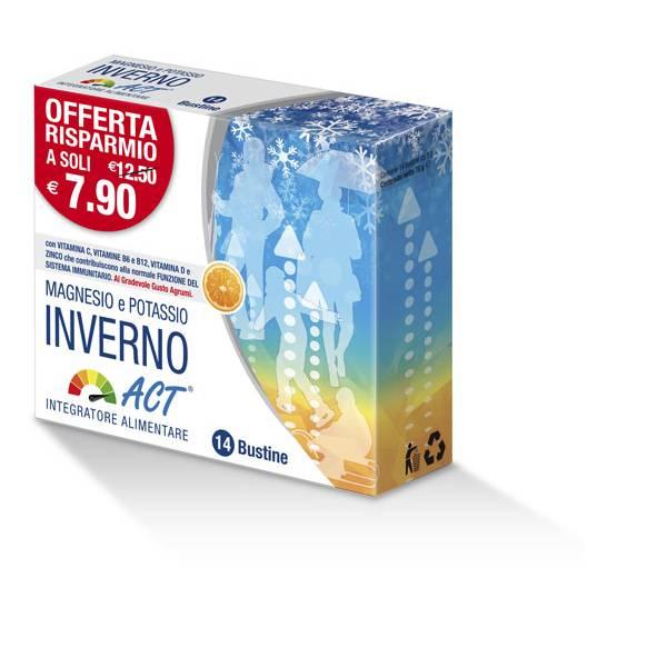 F&F Magnesio Potassio Inverno Act Integratore Alimentare 14 Bustine