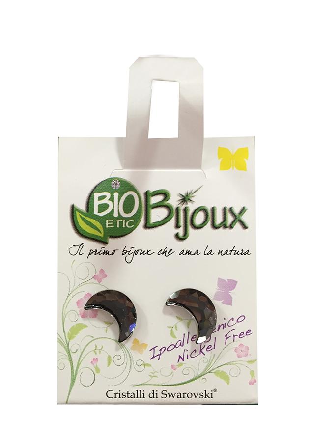 Image of Bioetic Bijoux Orecchino Luna 10x7mm Silver Night 927135386