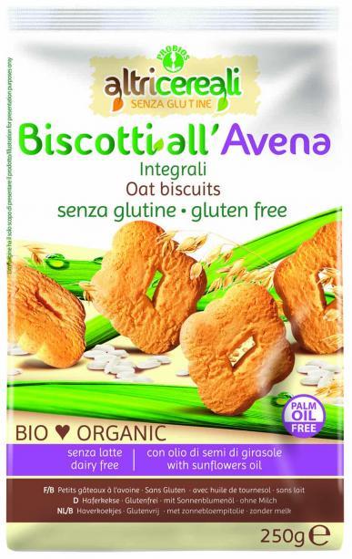 Image of AltriCereali Biscotti All' Avena Integrali Senza Glutine 250g 927143382