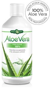 ErbaVita Aloe Vera Uso Interno Aloe Vera Puro Suco 100% Integratore Alimentare 1000ml