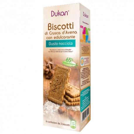 Image of Dukan Biscotti Di Crusca D'Avena Con Nocciole 6x3 Biscotti 927158358