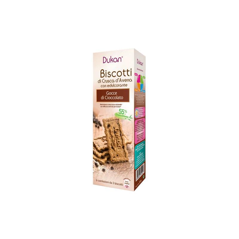 Image of Dukan Expert Biscotti Alla Crusca D'Avena Con Gocce Di Cioccolato 6x3 Biscotti 927158408