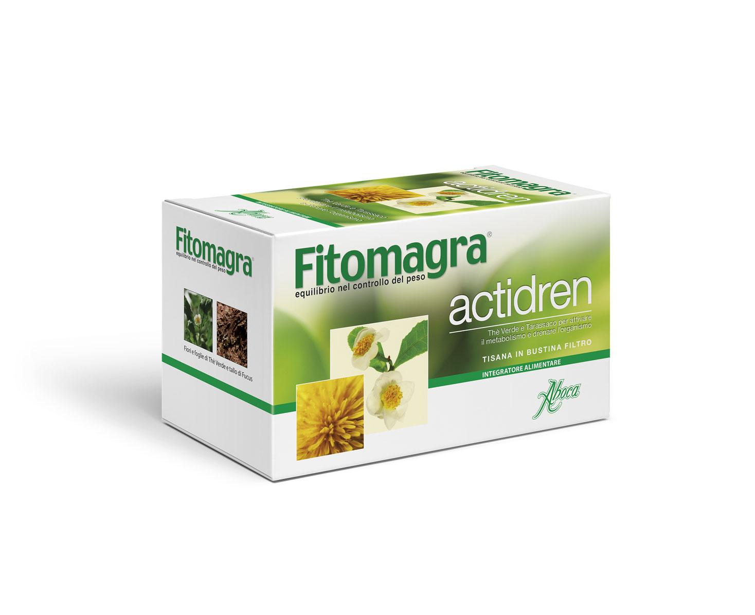 Aboca Fitomagra Actidren Tisana Integratore Alimentare 20 Bustine Da 1.8g