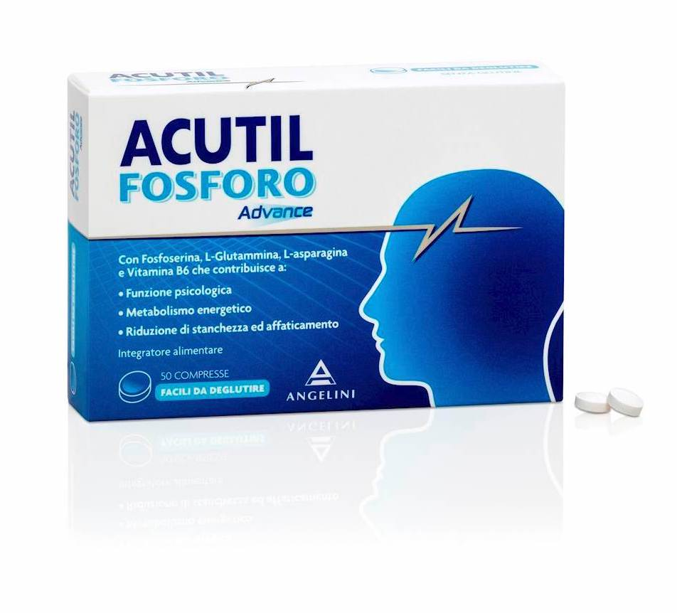 Angelini Acutil Fosforo Advance Integratore Alimentare 50 Compresse